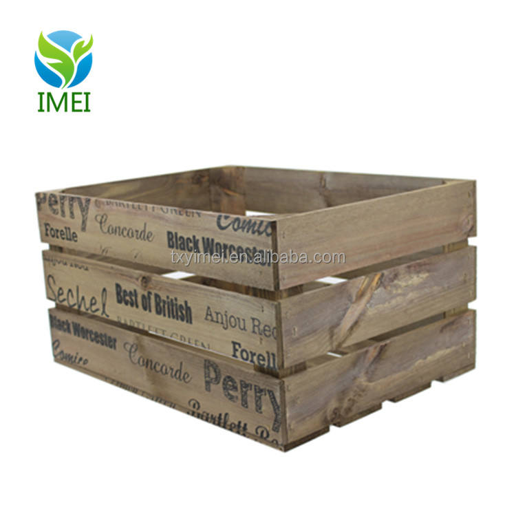 CNC cutting cheap wooden crates antique style wooden fruit crates fashion wooden wine crates for sale