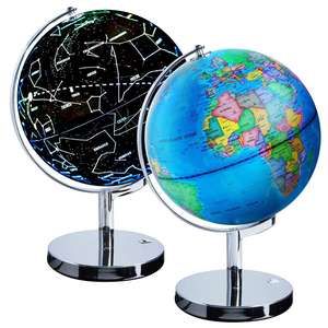 Gelsonlab HSGA-033 Illuminated Constellation World Globe - 3 in 1 Interactive Globe with Constellations, Smart Earth Globe