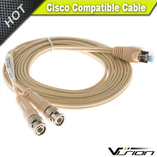 6ft E1 Dual BNC to RJ45 Unbalanced Cable for Cisc0 CAB-E1-RJ45BNC