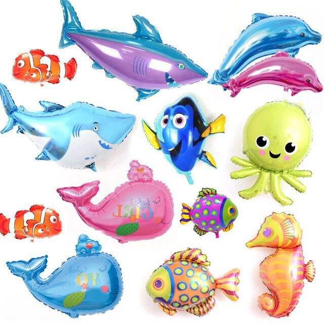 Undersea animals cartoon balloon foil animal/fish/octopus shape balloon for the seaside party