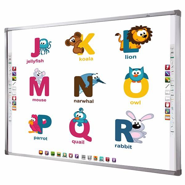 Digital class 10 touch whiteboard interactive white board and projector
