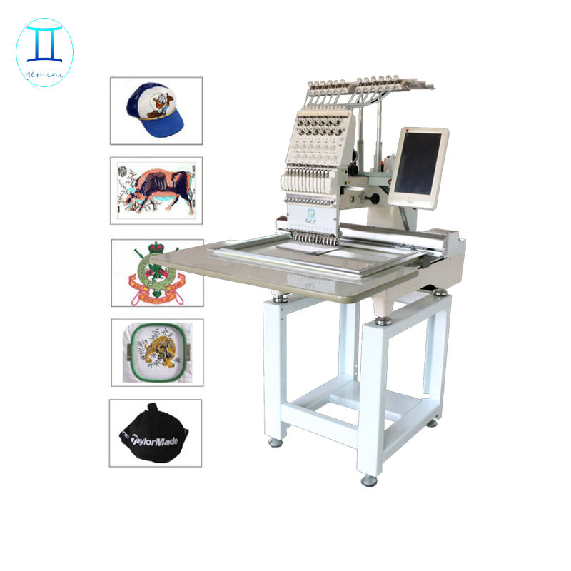 single head cheap price cap embroidery machine with computer