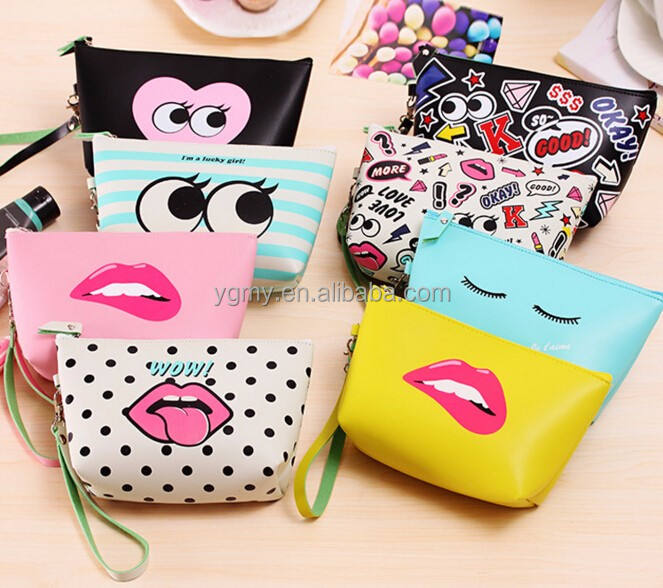 women Cosmetic Bags Makeup Bag Cosmetic case summer Dumpling Large clutch Women Packages Waterproof bag