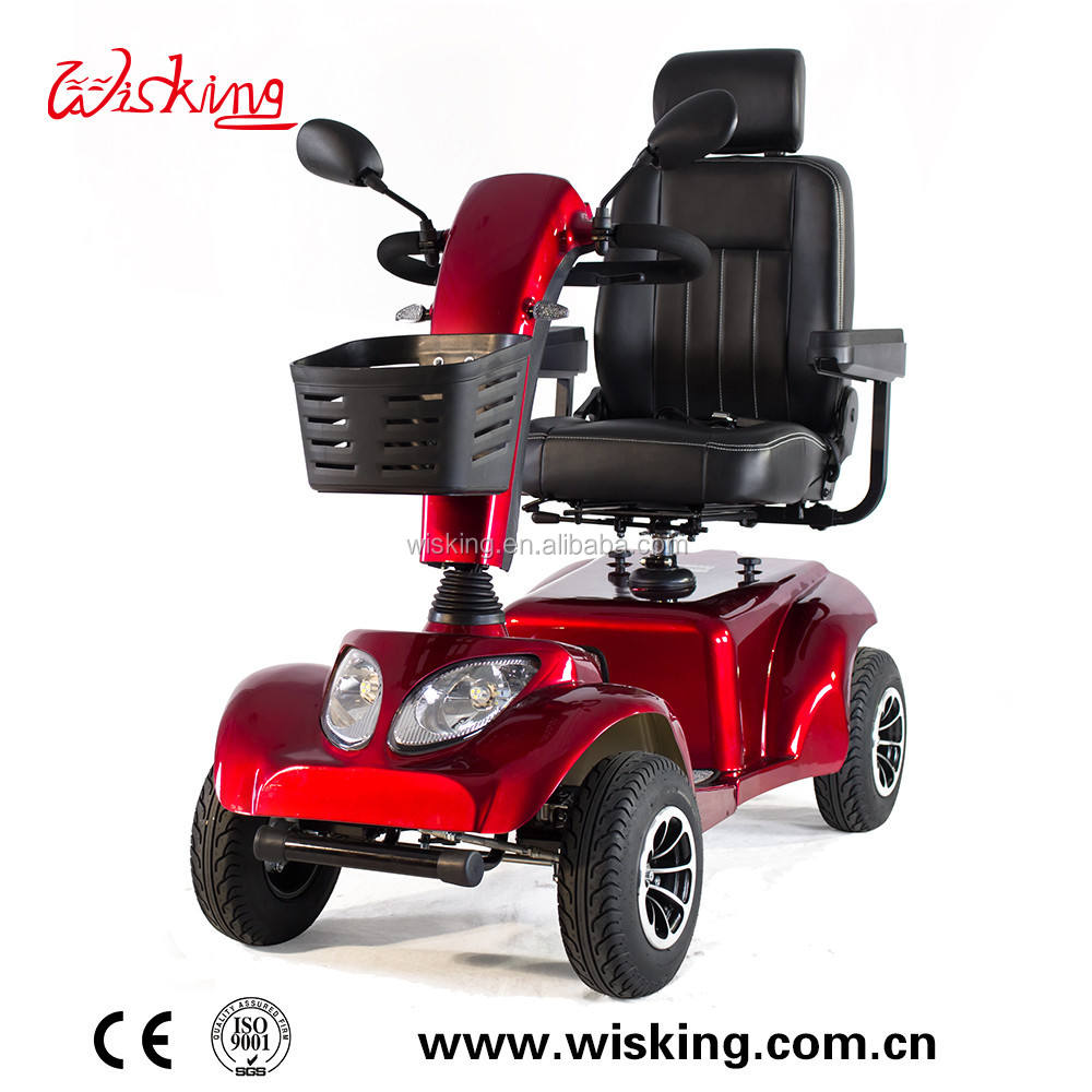 Wisking4028 Heavy Duty Mobility Scooter Captain Seat with High Backrest Swivil and Sliding Big Battery with Long Range 24V 800W