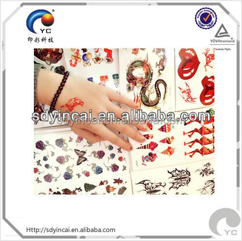 Bela tatuagem autocolante global trading company