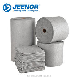 High quality industrial Universal spill control sorbents Pads and oil absorbing sheets
