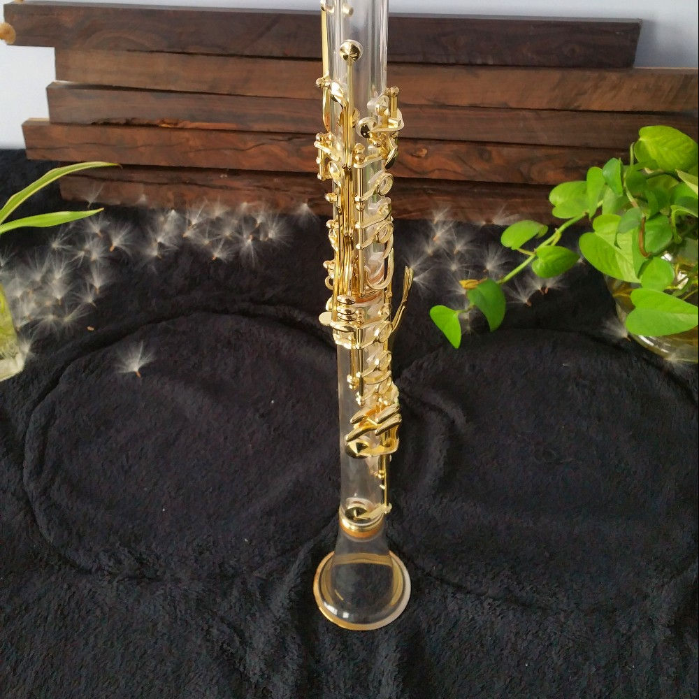 Amber/<span class=keywords><strong>Nhạc</strong></span> <span class=keywords><strong>Cụ</strong></span> Trong Suốt Mạ Vàng <span class=keywords><strong>Clarinet</strong></span> Bb
