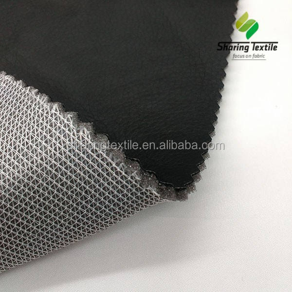 Factory Car Seat Cover Pu OR Pvc Anti-static Leather Bonded Laminiated Foam Spongee Car Auto Seat Cover Upholstery Car Fabric