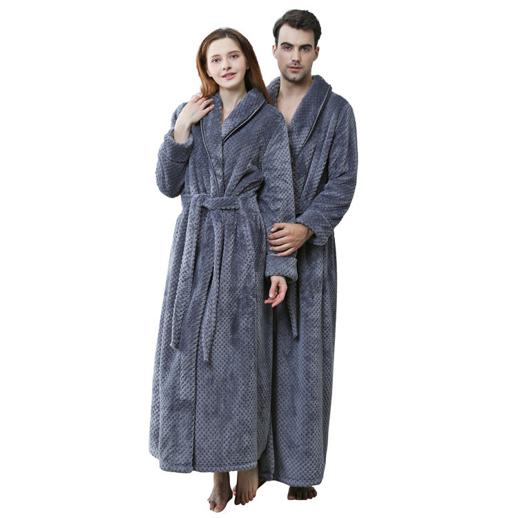 Wholesale Personalised Bath Robe ladies Dressing Gowns for men women robe bulk stock white four season bathrobes