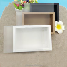 China Supplier Factory Wholesale Accept Custom Logo Gift Box Packaging Clear Frosted PVC Sleeve Window Sliding Kraft Drawer Box