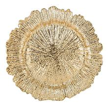 High Quality  Plastic Gold Reef Charger Plates  for Wedding Table Decorative