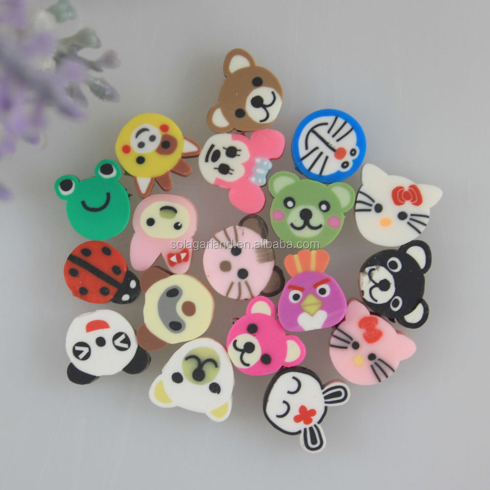 Wholesale 8-12MM Animal Head Beads Polymer Clay Kawaii Beads Jewelry Making Suppliers