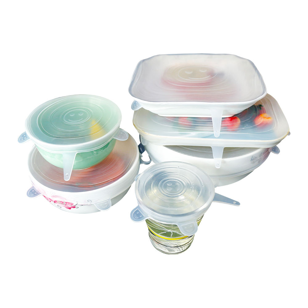 100% Food Grade Reusable Silicone Food Covers Stretch Lids For Cups Bowls Containers Food