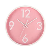 brief style wall decor concise trendy 3D numbers silent plastic wall clock wanduhr