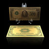 Decorative Gifts Money 24k 999.9 Gold Plated 500 US Dollar Currency Gold Banknote Fake Money