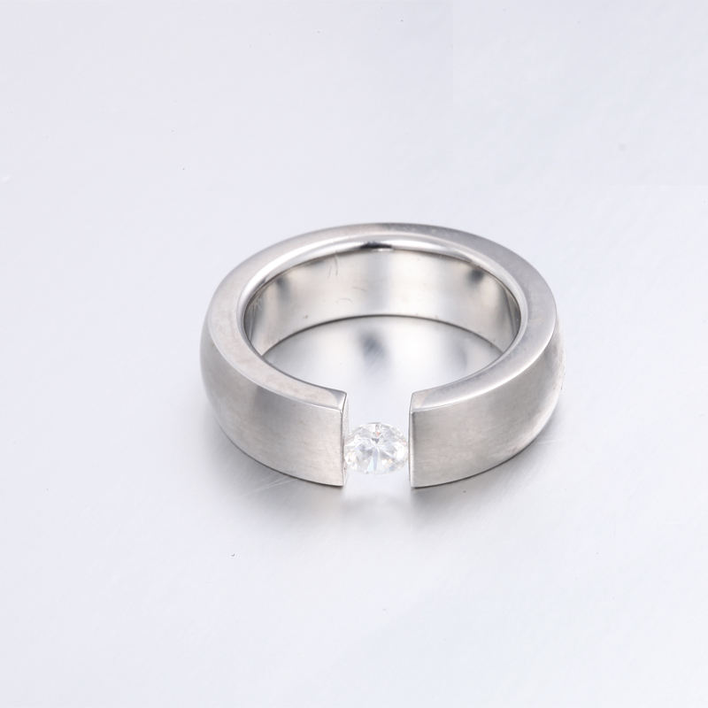 Wholesale Fine Jewelry Solitaire 14 Kt White Gold Engagement Certified 0.40 Ct Natural Genuine Diamond Finger Ring