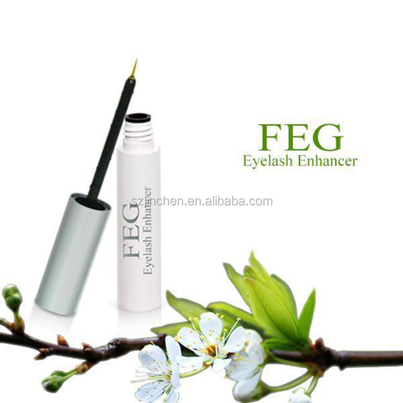 100% FEG Herbal Natural Eyelash Growth Liquid Eyelash Enhancer Growing Thicker Fuller and Longer Lashes Darker OEM Supplier