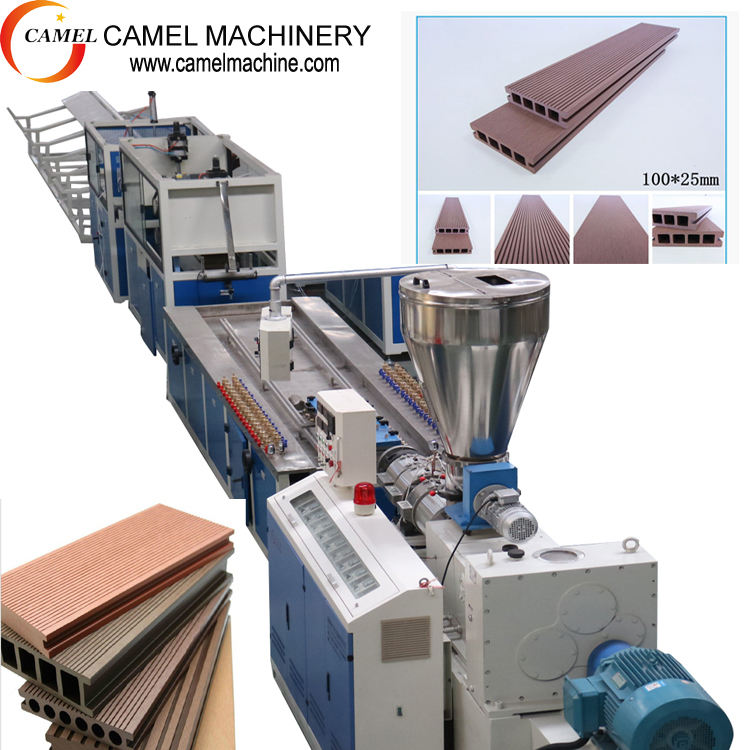 wood plastic profile extrusion line pvc deco profile extrusion line machine