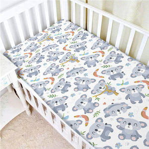 Custom Print Organic Baby Knitted Fitted Crib Sheet