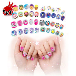 Girl nail art designs Stickers DIY Kids Toys For Children Manicure sticker nail art makeup set for little girl