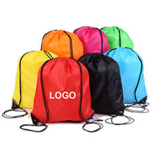 Original factory cheap polyester draw string sports bag custom promotional drawstring bag