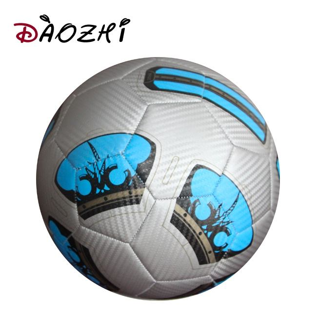 machine stitched colorful leather sewn inflatable Size 4 gold silver soccer ball
