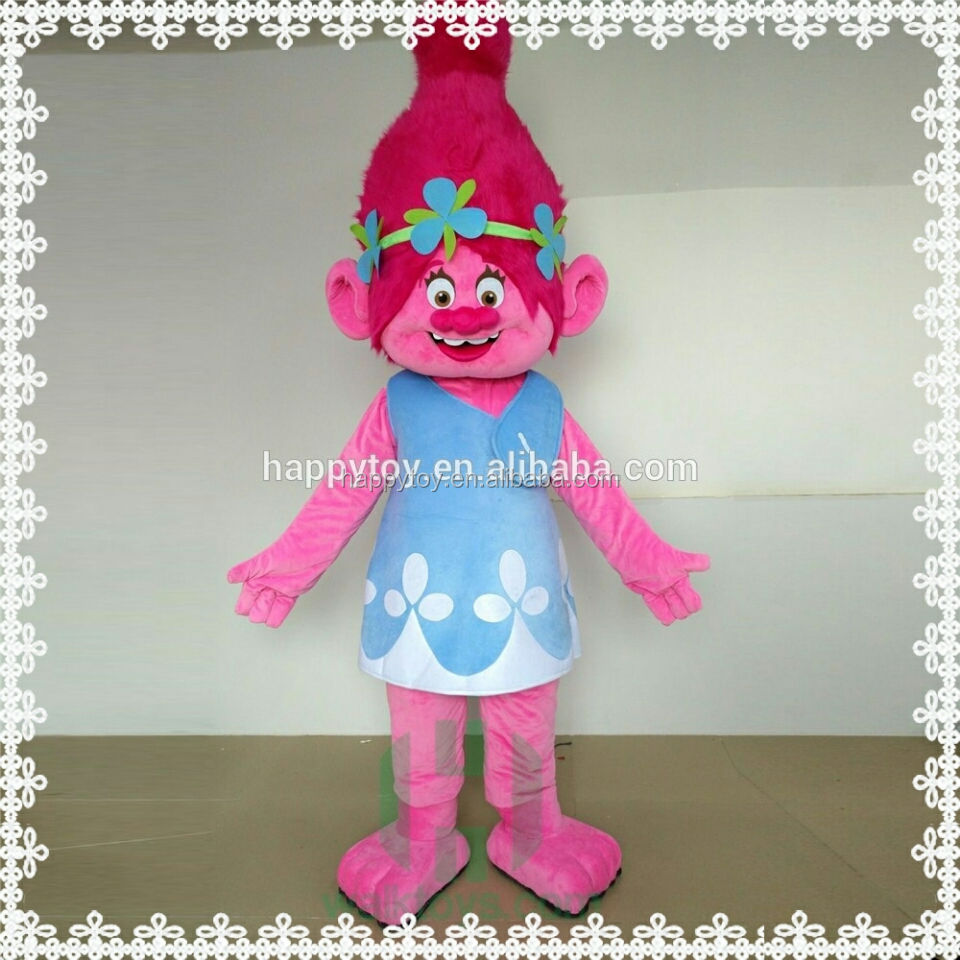 HOT!!!Newest Movie Action Figure Toy Trolls mascot costume for adult