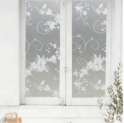 PVC vinyl non-adhesive privacy electric glass frosted window decorative glass film window film tint