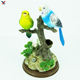 Sound sensor bird toys musical animal plastic toy singing bird pen holder