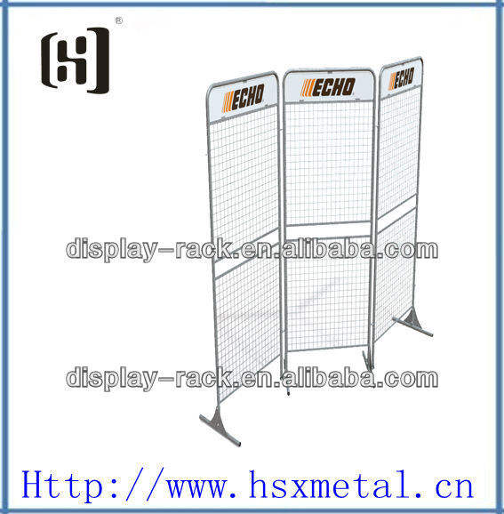 brush cutter tools wire mesh hanging hook display rack HSX-S354