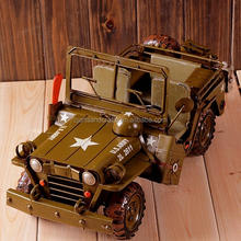 Old army car model antique car model for home collection