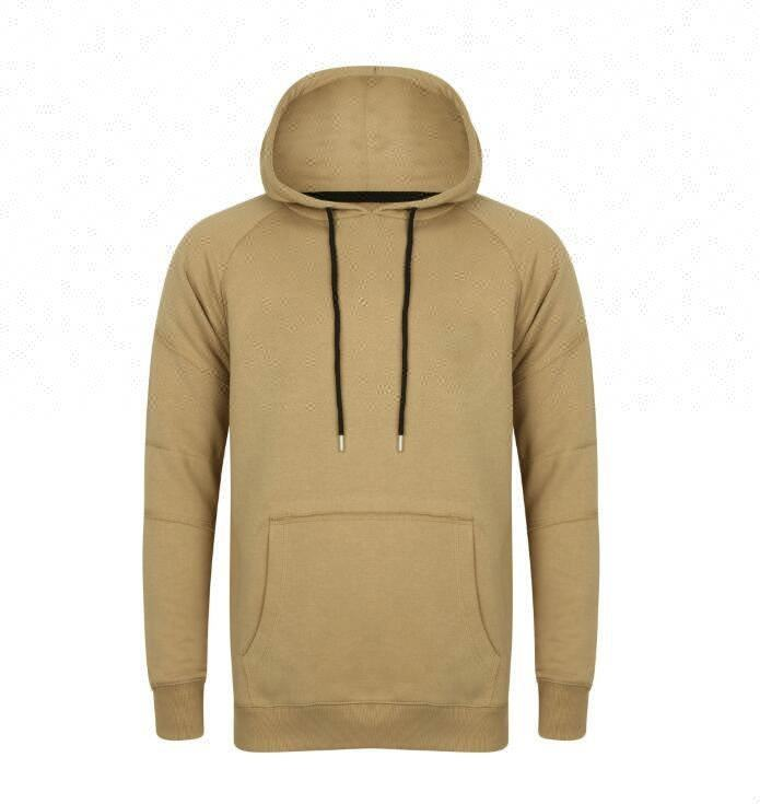 High quality men's cotton hooded sweatshirt with pure color and comfortable long sleeve sweatshirt
