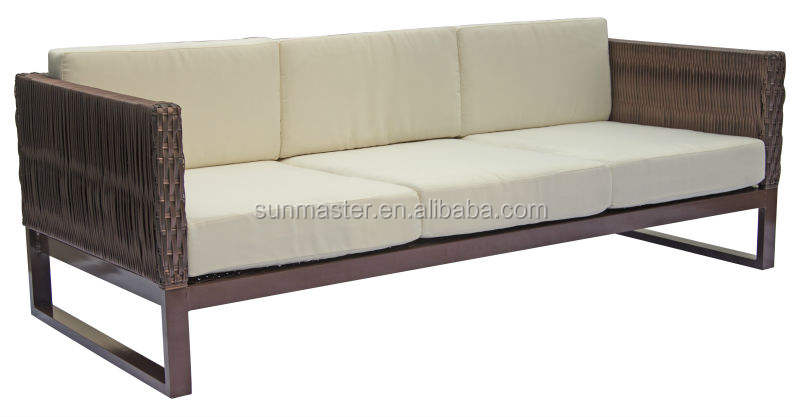 Garden Line Patio Sitting European Style Outdoor Sectional Furniture Rattan White Sofa