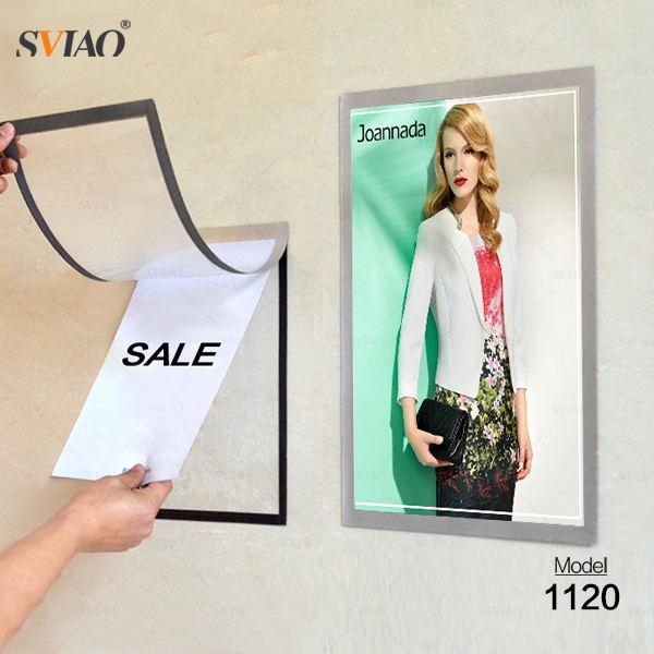 Размер A4 прозрачные Прочный Клей Магнитная пвх держатель знака плакат кадр/фоторамка