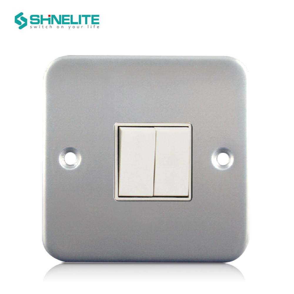 Metal Clad electrical switch MK CE Certificate 2 gang wall light switch OEM