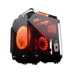 Commercio all'ingrosso Desktop di Alluminio Full Tower Full Size Temperato Occhiali 4.0 MILLIMETRI ATX Gaming Case Del Computer