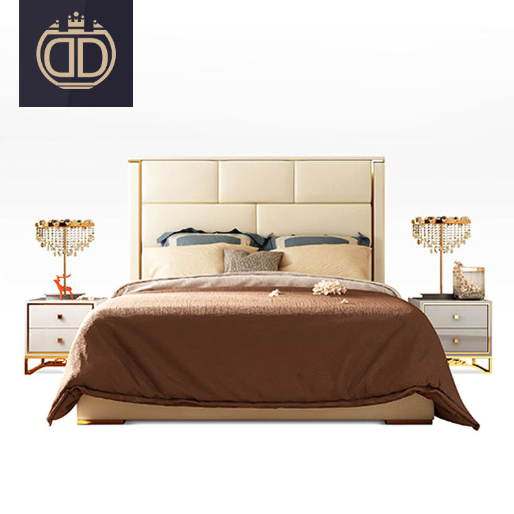 hotel simple double bed designs contemporary bedroom sets furniture modern luxury leather king size bed