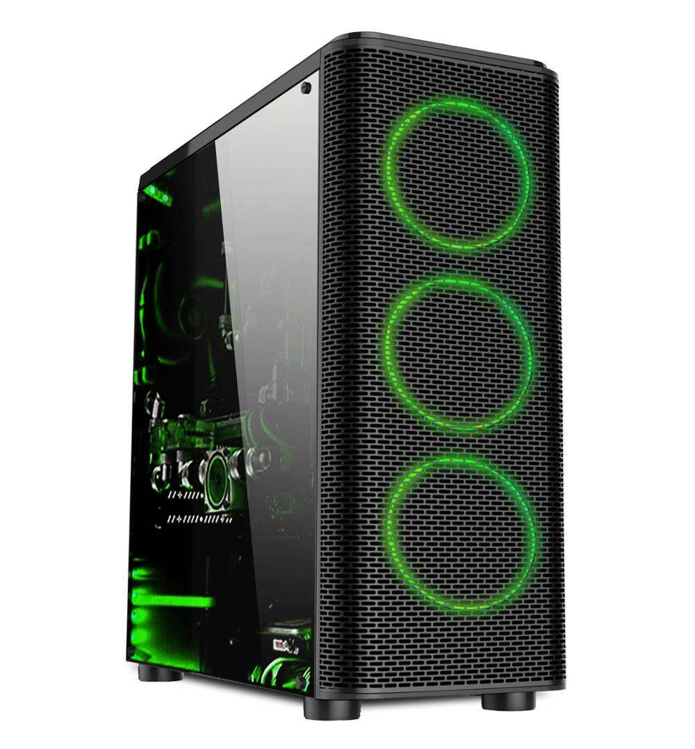 New pc case gaming computer case with 120mm fan mid tower and side panel good quality Aigo darkFlash