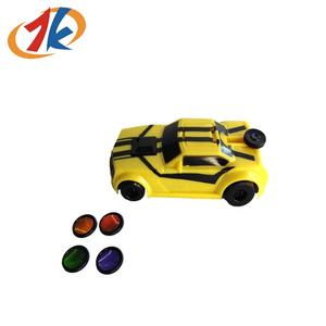 promotional kids plastic mini car shooter toy with disc