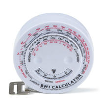 woman and man calculating bmi measuring tape equipment