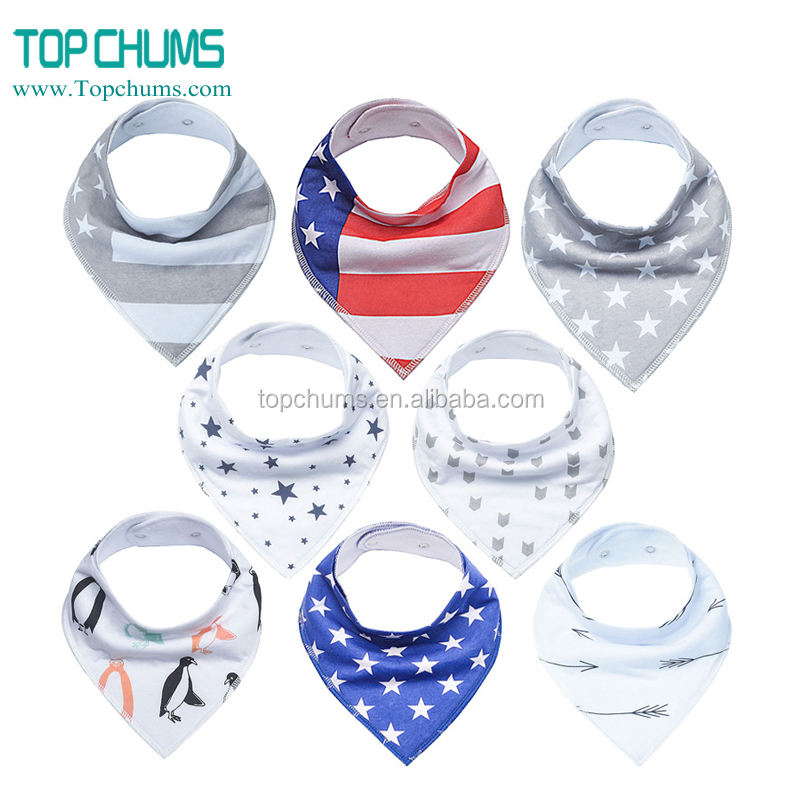 wholesale Ebay latest fashion printing cotton triangle scarf for baby