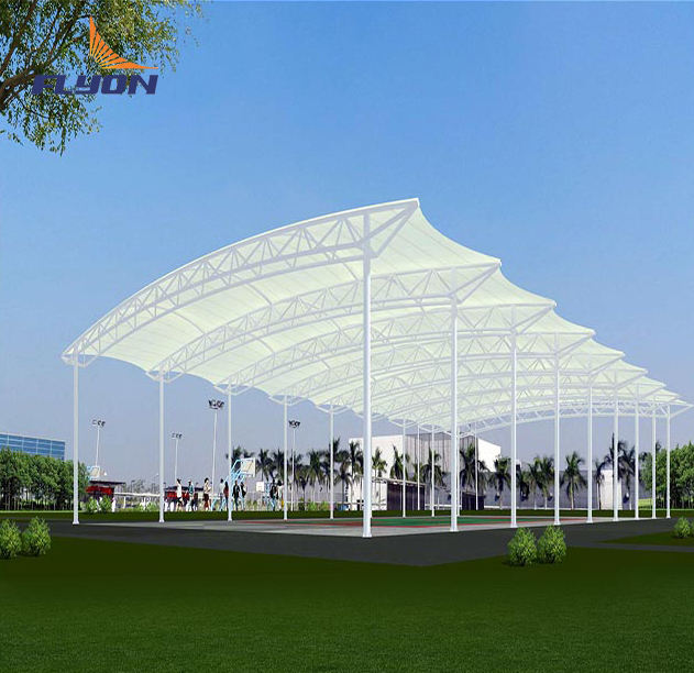PVC PVDF membrance structure Stadium shade for seats pvdf roof
