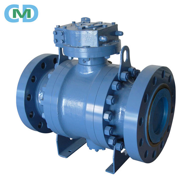 Three Pieces Flange Connection Full Bore Forged Trunnion Type Ball Valve with in China