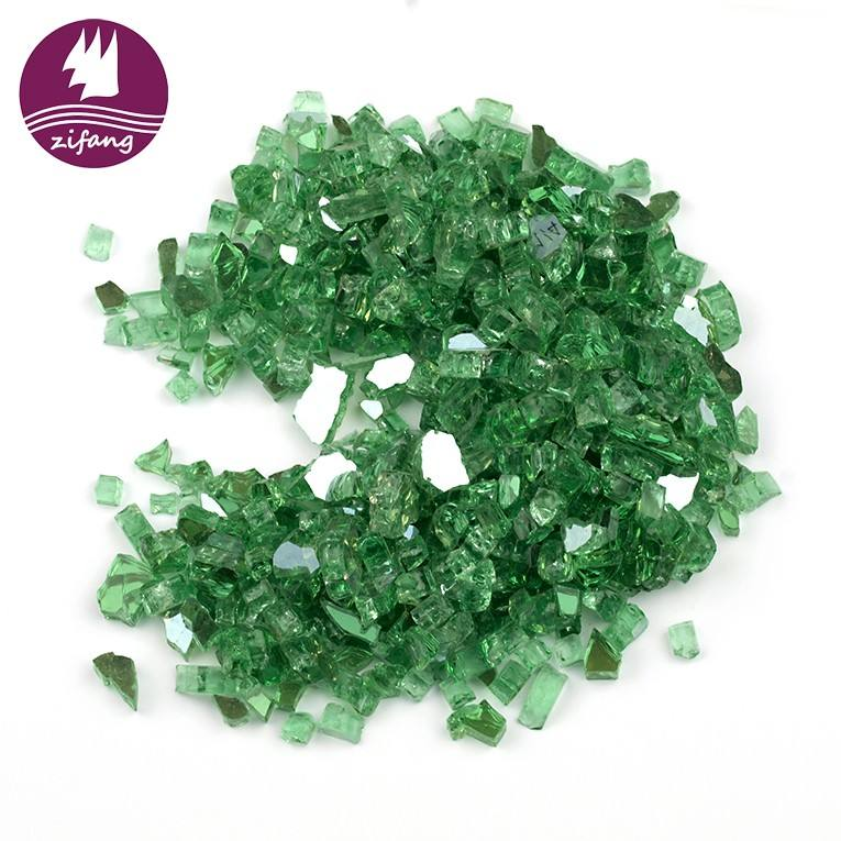 "Not create toxic fumes, smoke, or other unsafe particles when burn 1/4"", 1/2""Evergreen Reflective Fire Pit Glass"