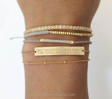 Inspiration Personalized Name Gold Bar Bracelet
