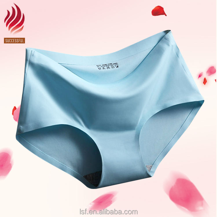 Manufacturer underwear one piece seamless women ice silk underwear panty