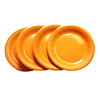 Wholesale Stocked Various Color Orange Disposable Paper Party Plate Factory For Birthday Thanksgiving Paper Plates