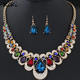 >>>New Fashion Accessory Love Gifts Wedding Party Jewelry Sets Women Indian Bridal Statement Necklace