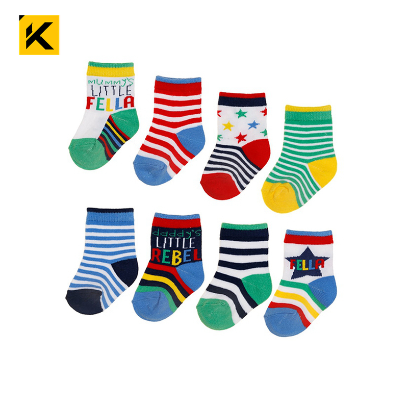 KT1-A1246 100% organic cotton baby socks socks for newborns korean baby socks