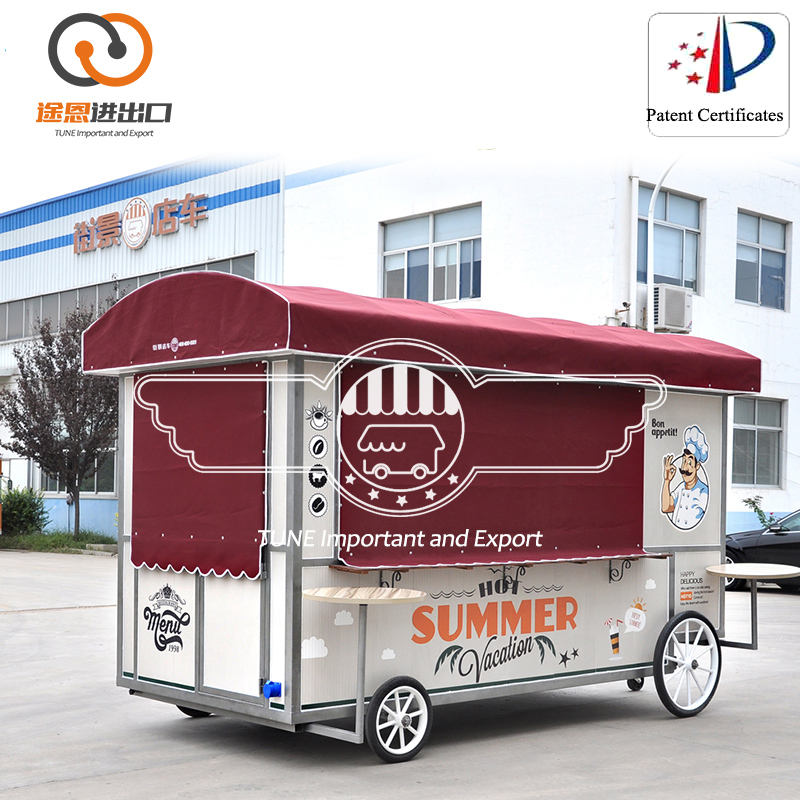 convenient food truck/pizza vending cart electric food car/New electric power supply street view food cart